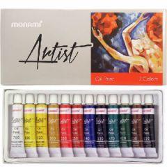 Monami Artist Yağlı Boya 12 Renk