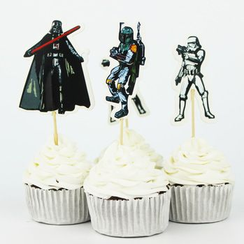 72 Piece Star Wars Party Supplies Cartoon Cupcake   $ 10.00 // Free Worldwide Shipping     #starwars #starwarsday #starwarsfan #starwarsbattlefront #starwarsdaily #starwarsweekends #starwarsrebels #starwarstoyfigs #starwarstoycrew #starwarstattoo #starwarstheforceawakens #starwarsuniverse #starwarsidentities #starwarsobsessed #starwarsporn #starwarsparty #starwarsactionfigures #starwarsart #starwarsaddict #starwarsshirt #starwarssaga #starwarsgeek #starwarsjunkie #starwarslove…