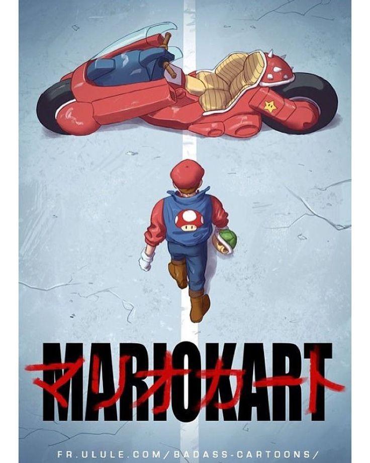 Check this cool Mariokart/Akira Mashup art by @sylvainsarrailh. We don't know what we want to do more: play Mariokart or watch Akira.  #mariokart #akira #nintendo #anime #japan #retrogaming #mariokart8deluxe #mariokart8 #nintendoswitch #mashup #fanart