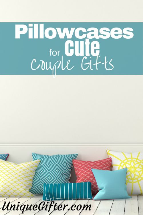 There are a surprising number of adorable pillowcase sets in the world, that make very cute couples gifts! Here is a curated list.