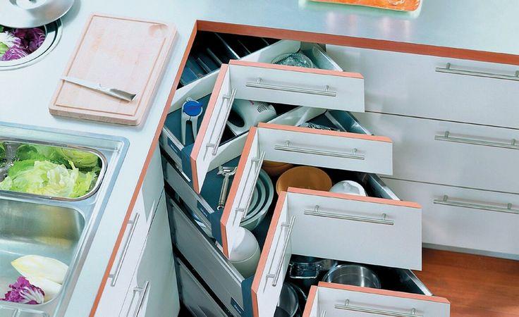 Space corner rangement pour armoires de cuisine for Armoire de cuisine usage