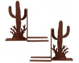 Saguaro Cactus Rustic Steel Southwestern Bookend Set