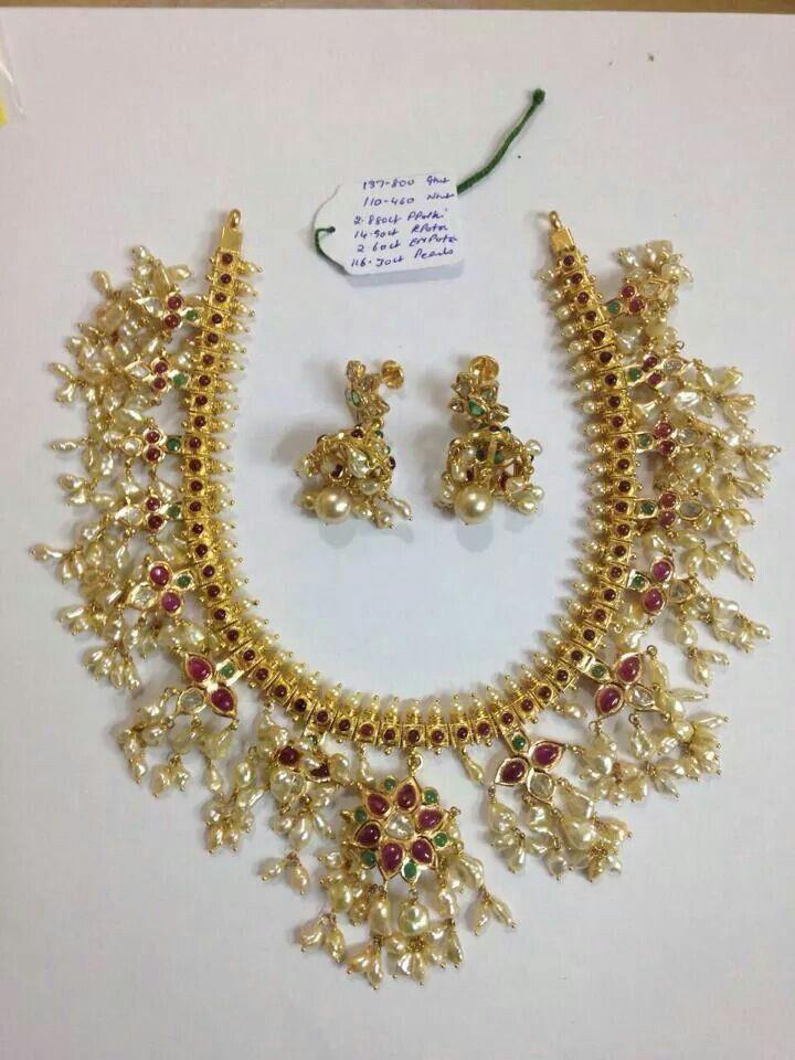 Gutta pusalu necklace for Telugu wedding