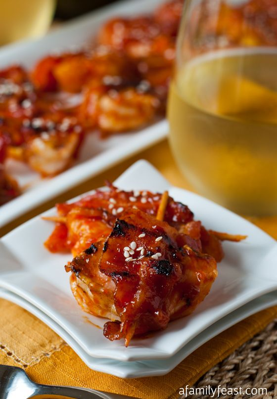 Sweet and Spicy Shrimp, Pineapple and Bacon Skewers ...