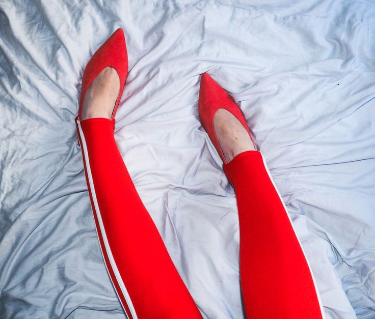 Red suede slingbacks shoes from Next, red stirup leggings from Adidas bought at Topshop. Red is my favorite color.  my favorite color is red http://gabriellalundgren.com/my-favorite-color-is-red