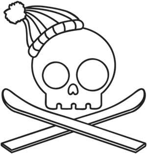 Skully Skier | Urban Threads: Unique and Awesome Embroidery Designs