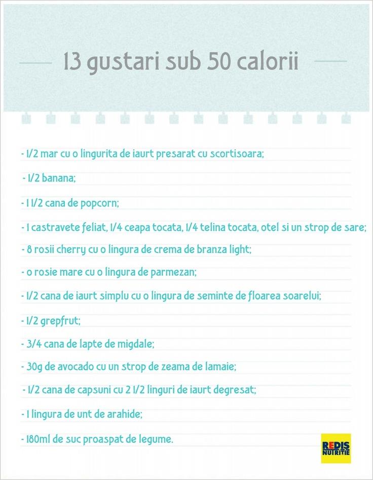 13 gustari sanatose, cu mai putin de 50 calorii!