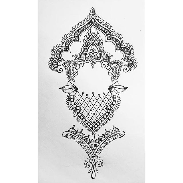 Arm piece for Jubel (ALL DESIGNS ARE SUBJECT TO COPYRIGHT) #mandala #mehndi #tattoo #tattoodesign