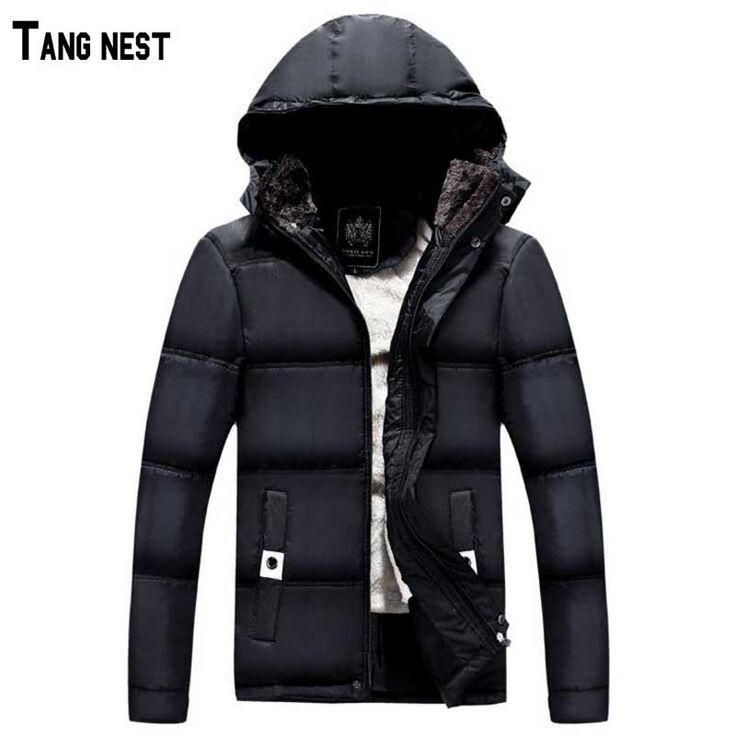 Мужчины зимние куртки 2016 мужская твердые старший парка куртки черный синих людей теплая одежда с капюшоном парки мужчина MWM1123