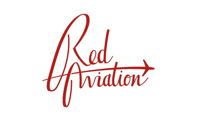 Red Aviation Script  Stacked Logo: Aviation, Scripts Stacking, Aviator Logos, Red Aviator, Bfm Aviator, Stacking Logos, Aviator Scripts, Graphics Design, Logos Inspirati