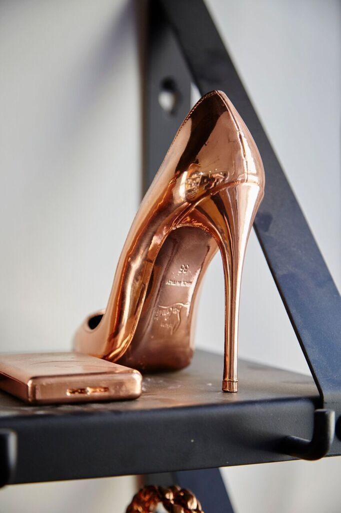Christian Louboutin Gold Shoes #christianlouboutinquotes