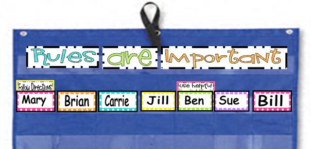 Inspired by Kindergarten: Behavior Charts....here's what I'm going to try!
