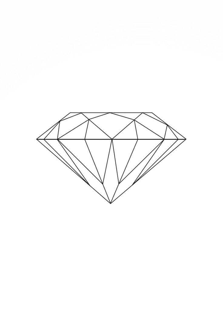 Картинки алмаза на тату