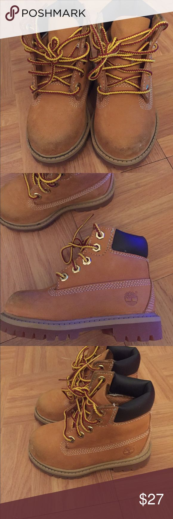 Toddler boots Toddler timberland boots a few scuffs in the front Timberland Shoes Boots