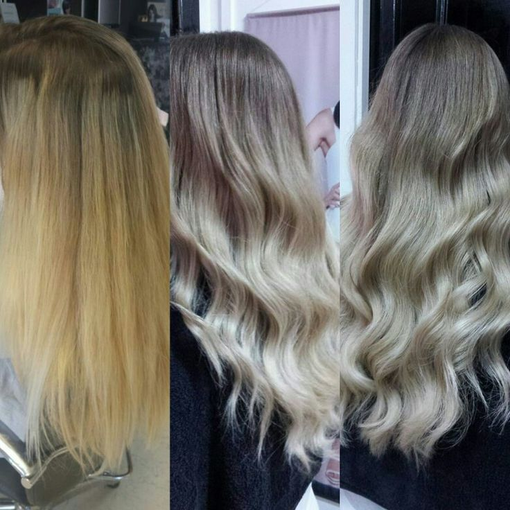 Before and after. Perfect ombre - balayage by Sarcavazi Christina Hair & Beauty Salon.