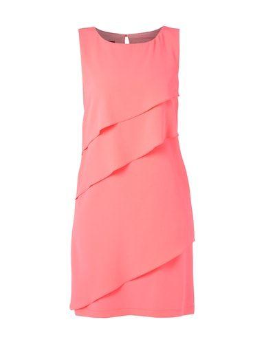 Kleid im Stufen-Look Rosé - 1