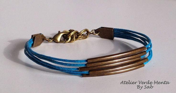 Atelier Verde Menta, Bracelet/ braccialetto turchese scuro. By Sab