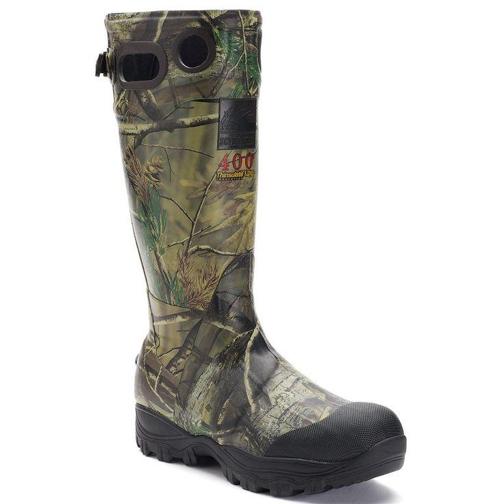 Itasca Swampwalker Real Tree Camouflage Men's Knee-High Waterproof Boots, Size: 11, Lt Brown