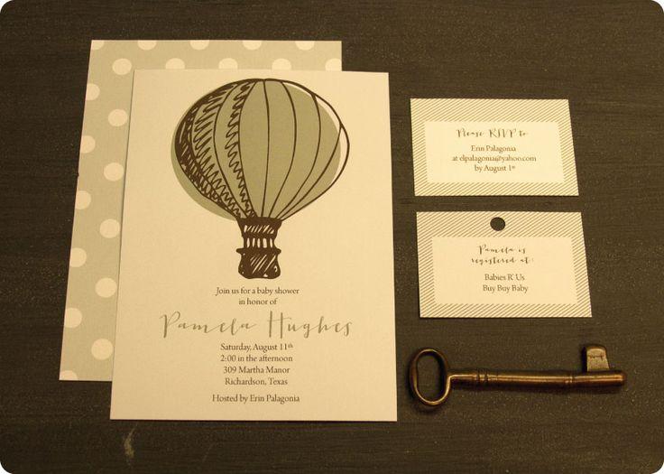 Baby Shower Invitations / Hot Air Balloon