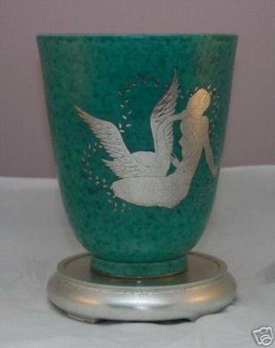 WILHELM KAGE Gustavsberg Argenta Art Deco Vase (12/08/2007)
