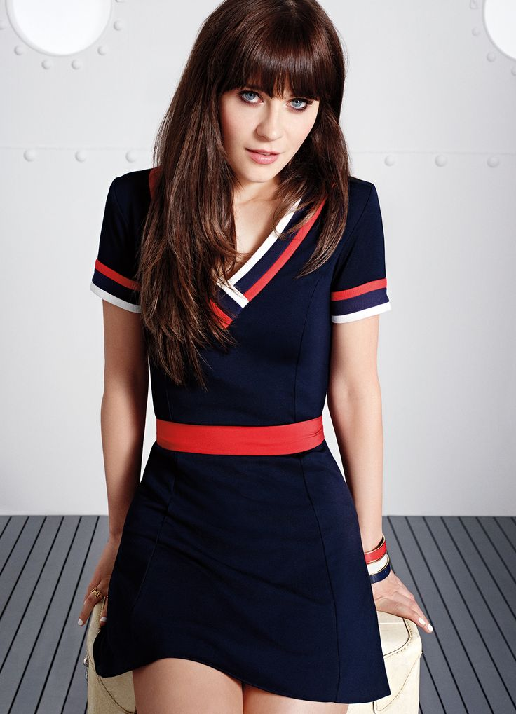 Nautical Style. Zoey Deschanel's new collab with Tommy Hilfiger is stunning