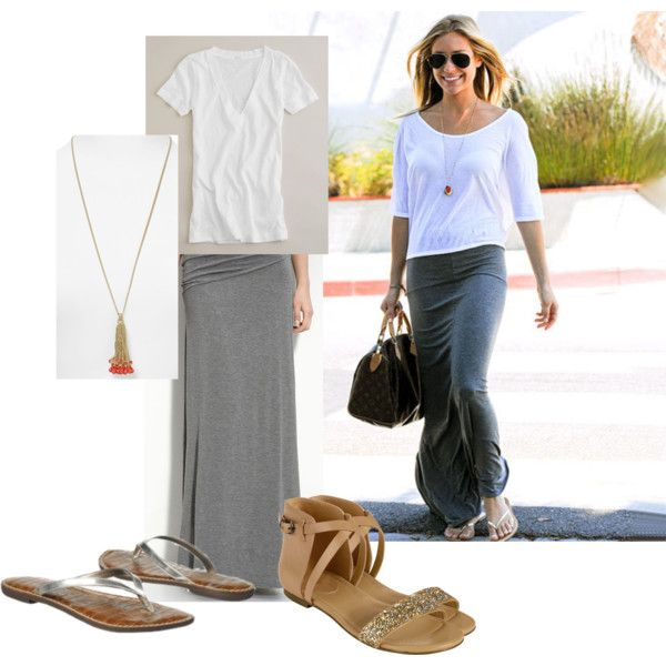 """""""Kristin Cavallari Maxi Outfit"""" by lolcatgirl on Polyvore"""