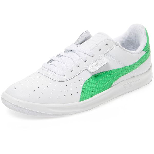 Puma Men's G. Vilas 2 Low Top Sneaker - White, Size 13 ($58) ❤ liked on Polyvore featuring men's fashion, men's shoes, men's sneakers, white, mens sneakers, men's low top sneakers, mens leather shoes, mens low profile sneakers and mens lace up shoes