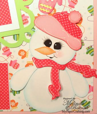 Cricut Paper Piecing Cartridge Critters Snowgirl paper piecing created with the Artiste cartridge. Direct Link: http://www.mypapercrafting.com/2009/01/ctmh11613.html