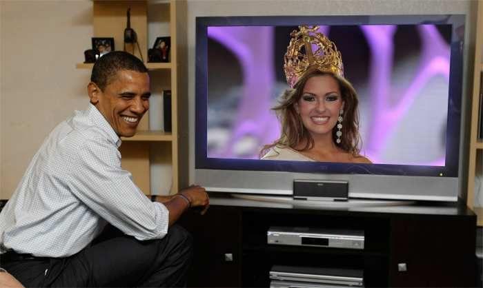 Michelle Rouillard Senorita Colombia 2008 en vivo Obama