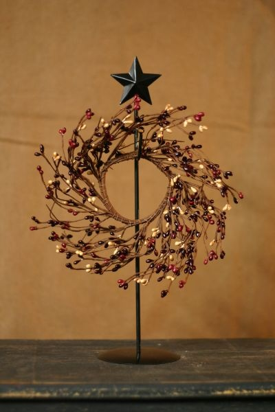 primitive wreath stand