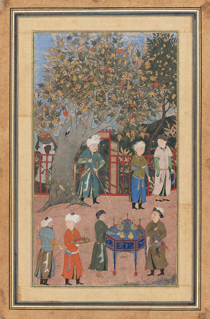 Garden Scene Persian Timurid Period late 15th century Ascribed to Bihzad (Persian Persian)  Object Place: Herat