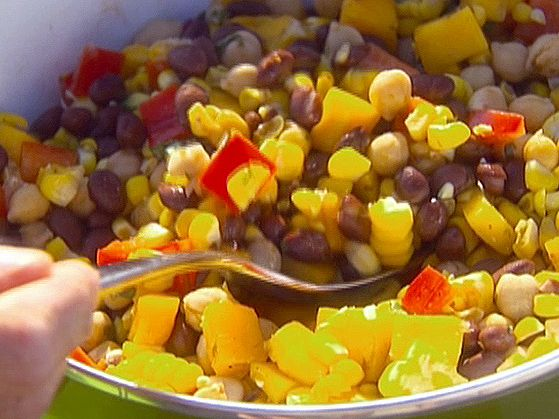Corn and Black Bean Salad with Basil-Lime Vinaigrette from FoodNetwork.com