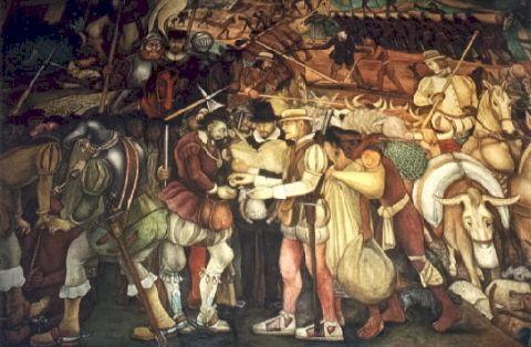1519- Aankomst Cortés in Mexico-