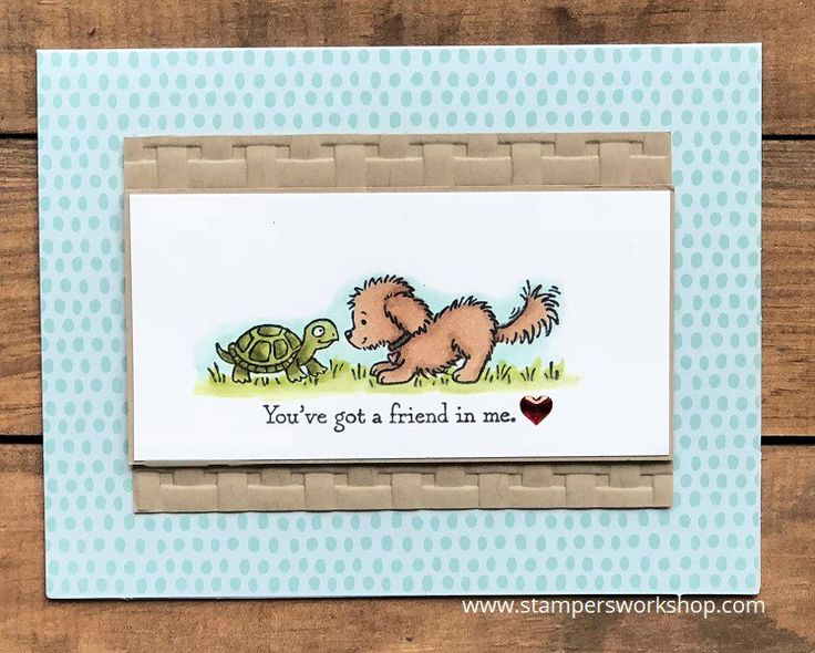You've got a friend in me    Create a super cute and surprisingly simple card using the Bella & Friends Stamp Set    #stampersworkshop #stampinup #stamping #stampinupaus #bella&friends