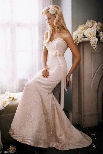 Cool Style ue Bridal Gowns Wedding Dresses ue by Alvina Valenta Shown Ivory Corded Lace over Rum Pink Silk Faced Duchess soft Fluted gown with Bateau neckline