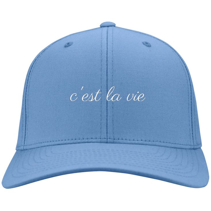 C'est La Vie Cap from Munkberry. Inspired by a love of travel and adventure. These trendy hats are great for everyday, traveling, hiking, camping, outdoors, and more. Great gift idea for women. Baseball caps, hats.