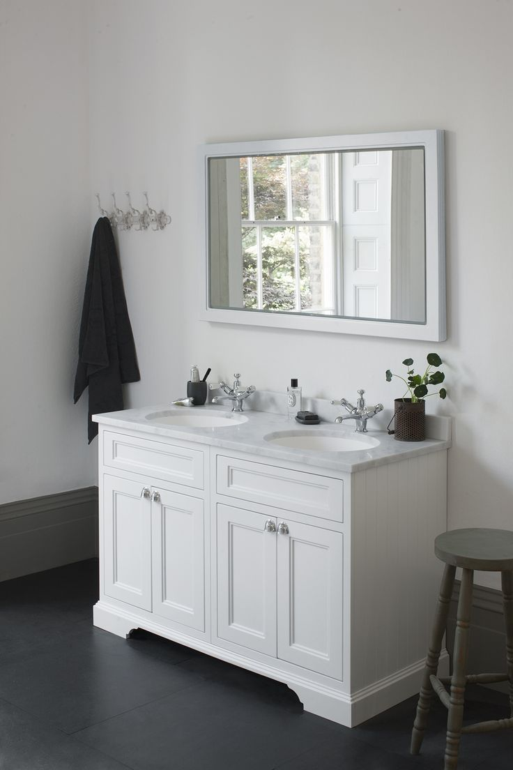 Minerva bathroom tops minerva - The Burlington Matt White Freestanding Double Vanity Unit Worktop Basin Is Available With A Choice Of Minerva Worktop And Features A Beautiful