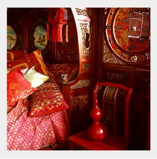 My Bohemian Home ~ Bedrooms and Guest Rooms   image from An Indian Summer. - gypsy wagon - interior