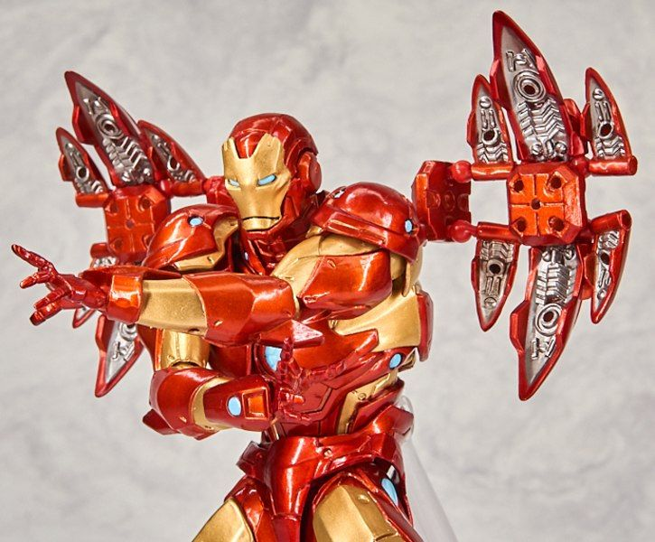 New Marvel Amazing Yamaguchi Revoltech Bleeding Edge Armor Iron Man Figure Images Iron Man Armor Iron Man Marvel