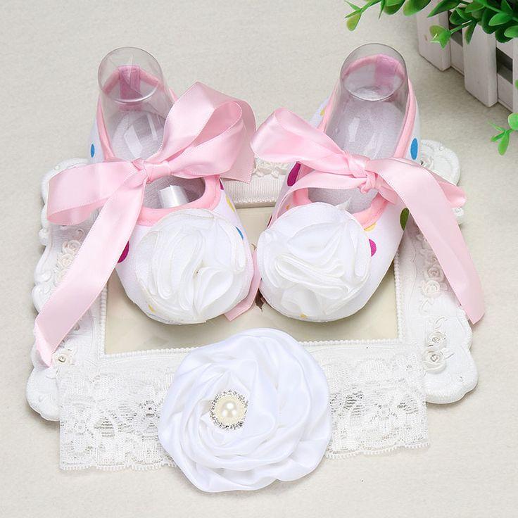 >> Click to Buy << Rosset flower sapato bebe menina baby booties zapatitos bebe botas;Girl baby boots&headband Shoes set botines 2016 #Affiliate