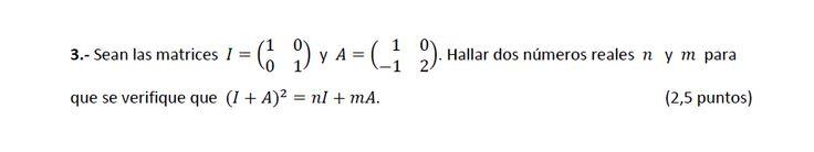 Ejercicio 3A Julio 2014-2015. Matemática, pau de Canarias, matemática 2, matrices y determinantes