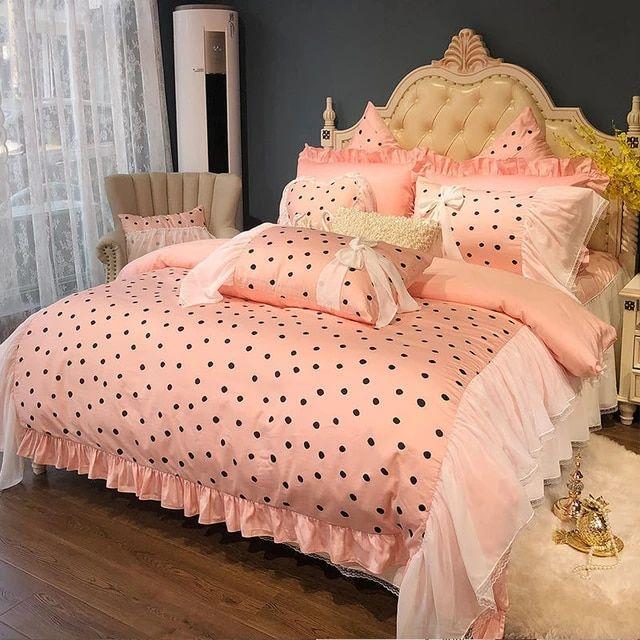 American Pastoral 60s Cotton Bedding Sets Queen King Size Princess Dark Green Vintage Bed Sets Floral Duvet In 2020 Vintage Bedding Set Vintage Bed Queen Bedding Sets