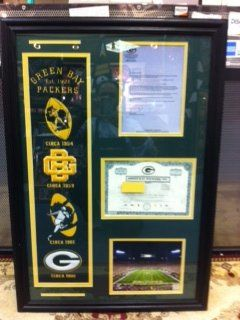 Amazon.com: Green Bay Packers Stock Certificate Frame with Packers Banner: Home & Kitchen