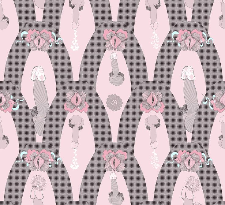Sas and Yosh Textile design for 'Darkest Star' 2016AW sleeves collection. Beautifully naughty!
