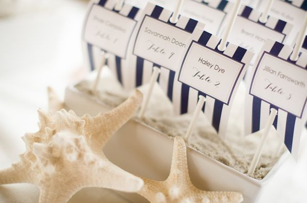 Love these for a nautical wedding