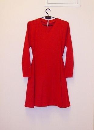 Kup mój przedmiot na #vintedpl http://www.vinted.pl/damska-odziez/krotkie-sukienki/13641597-sukienka-rozkloszowana-czerwona-wiazana-w-talii-36