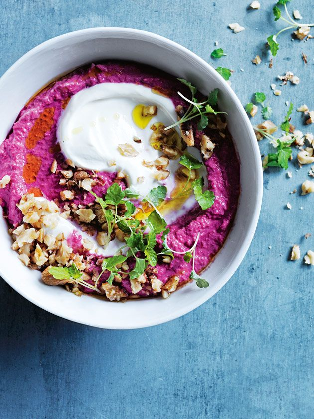 beetroot and cumin hummus with toasted walnuts | donna hay