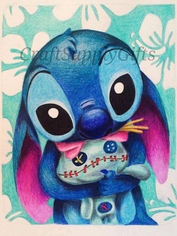 5d Diy Diamond Painting Disney Stitch Mosaic Cross Stitch