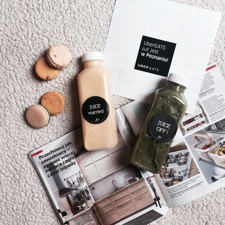 Zobaczcie co przywiózł mi #ubereats  Ulubiony zielony juice! Poproszę dzisiaj kolejny może pomoże mi na przeziębienie Macie jakieś szybkie sposoby na katar? #juice #fresh #diet #fit #yummy #vege #sunday