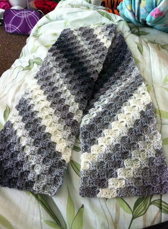 C2c Scarf Crocheting Crochet Crochet Scarves Crochet